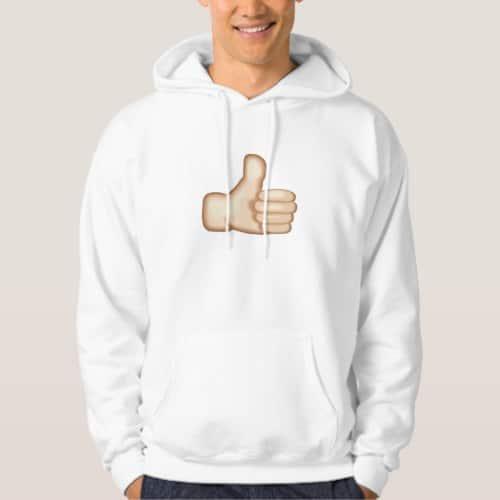 Thumbs Up Sign Emoji Hoodie for Men