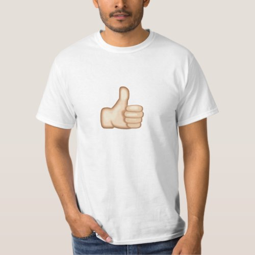 Thumbs Up Sign Emoji T-Shirt for Men