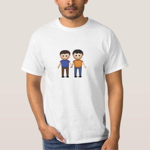 Two Men Holding Hands Emoji T-Shirt for Men