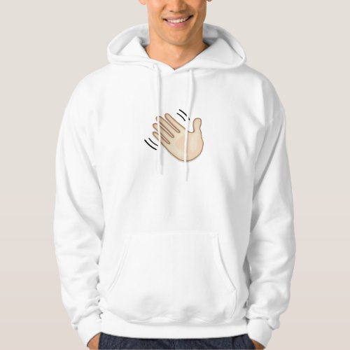 Waving Hand Sign Emoji Hoodie for Men