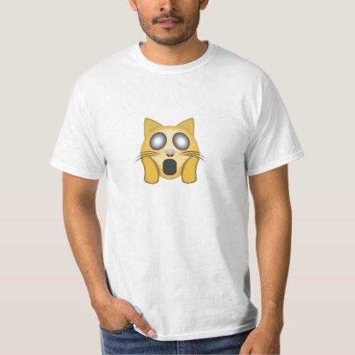 Weary Cat Face Emoji T-Shirt for Men