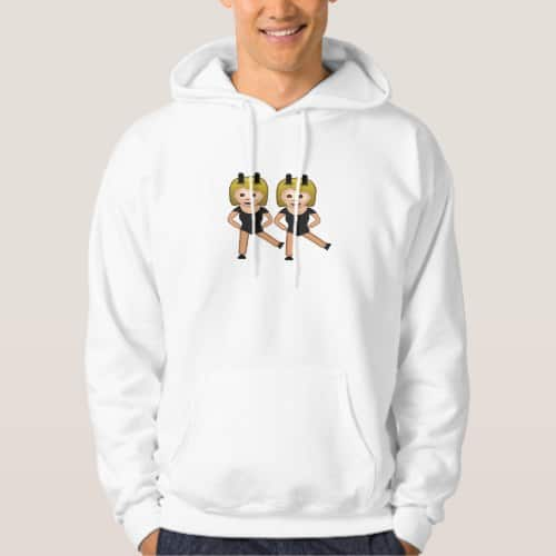 Woman With Bunny Ears Emoji Hoodie for Men