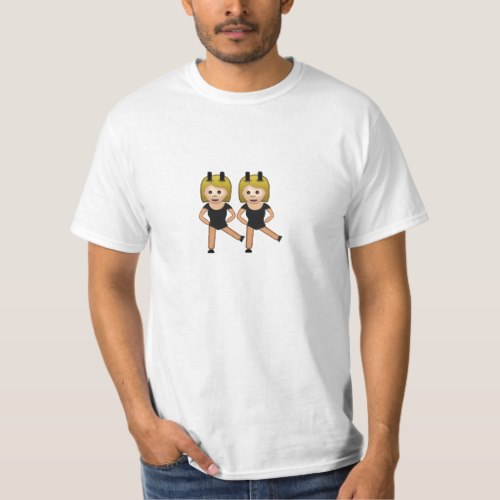 Woman With Bunny Ears Emoji T-Shirt for Men