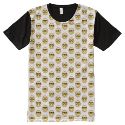 Nerd Face Emoji All-Over-Print Shirt