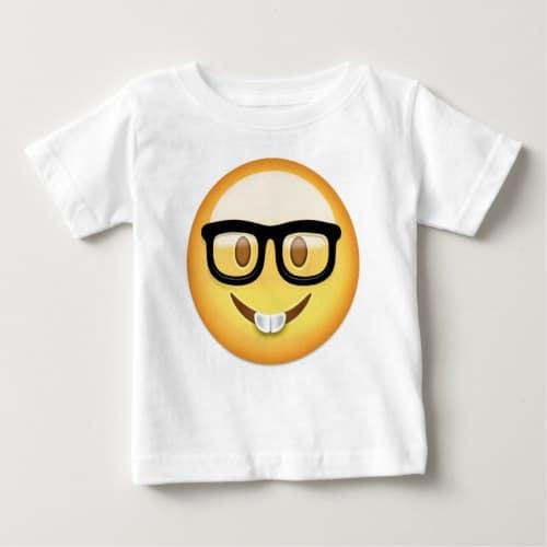 Nerd Face Emoji Baby T-Shirt