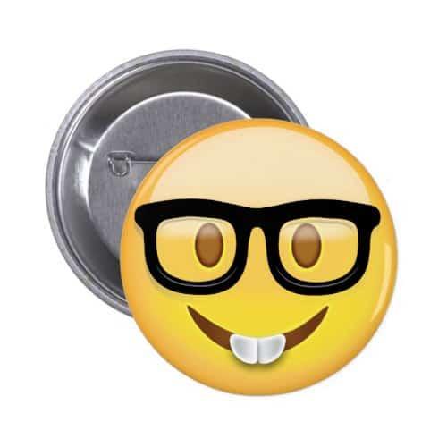 Nerd Face Emoji Button