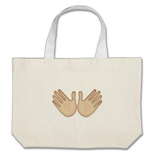 Open Hands Sign Emoji Large Tote Bag