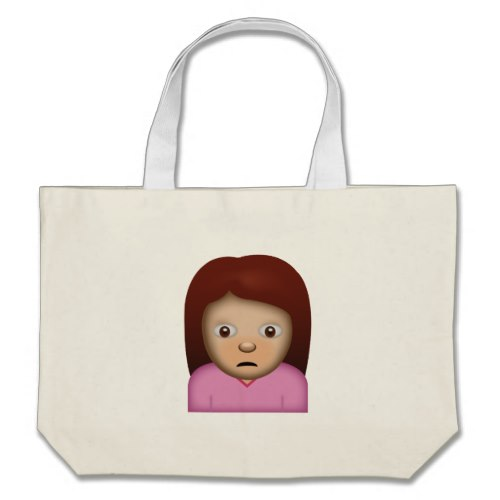 Person Frowning Emoji Large Tote Bag