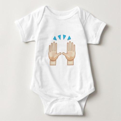 Person Raising Both Hands In Celebration Emoji Baby Bodysuit