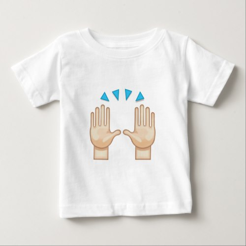 Person Raising Both Hands In Celebration Emoji Baby T-Shirt
