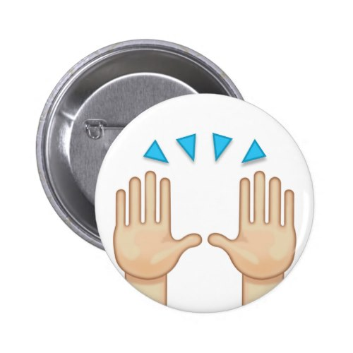 Person Raising Both Hands In Celebration Emoji Button