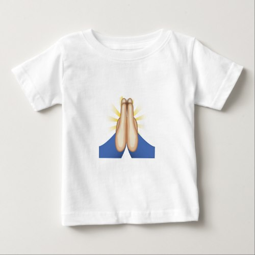 Person With Folded Hands Emoji Baby T-Shirt