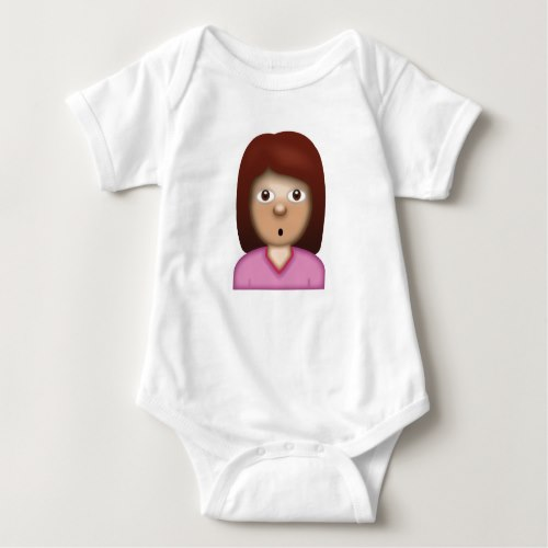 Person with Pouting Face Emoji Baby Bodysuit
