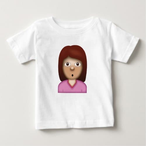 Person with Pouting Face Emoji Baby T-Shirt