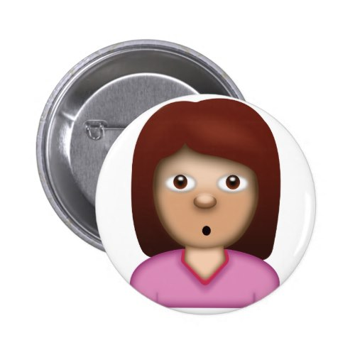 Person with Pouting Face Emoji Button