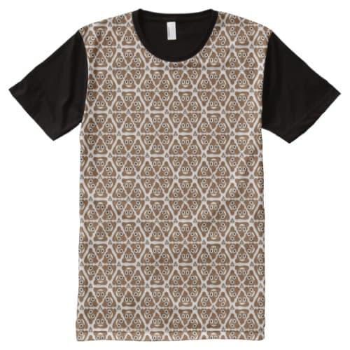 Pile Of Poo Emoji All-Over-Print T-Shirt