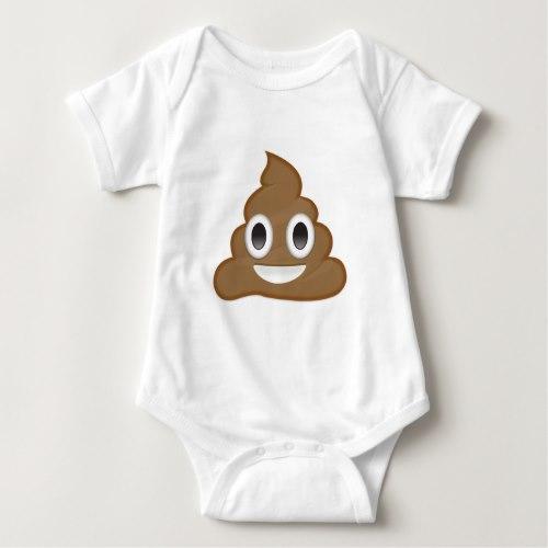 Pile Of Poo Emoji Baby Bodysuit