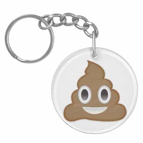 Pile Of Poo Emoji Keychain