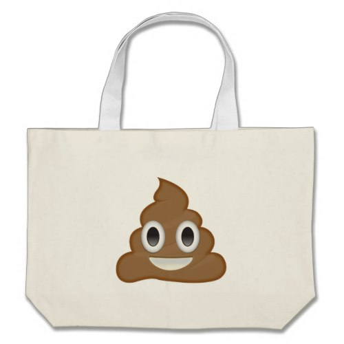 Pile Of Poo Emoji Large Tote Bag