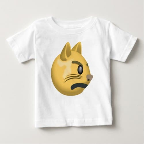 Pouting Cat Face Emoji Baby T-Shirt