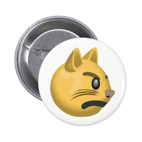 Pouting Cat Face Emoji Button