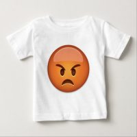 Pouting Face Emoji Baby T-Shirt