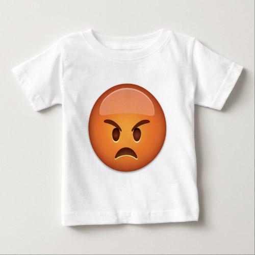 Pouting Face Emoji Baby T-Shirt