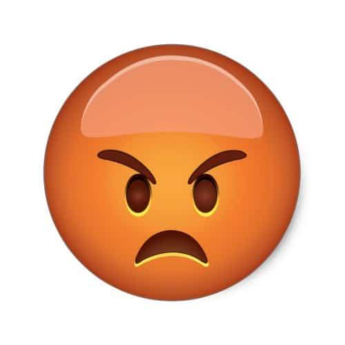 Pouting Face Emoji Classic Round Sticker