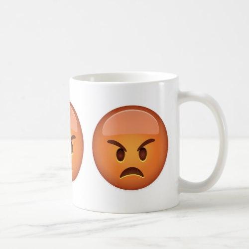 Pouting Face Emoji Coffee Mug