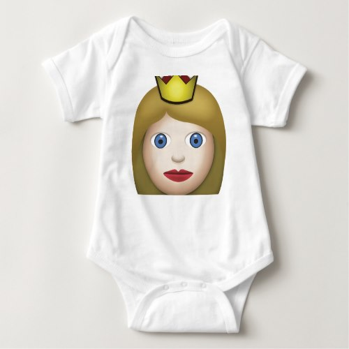 Princess Emoji Baby Bodysuit