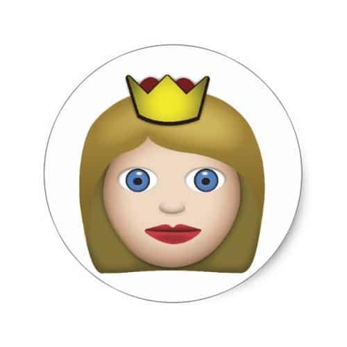 Princess Emoji Classic Round Sticker