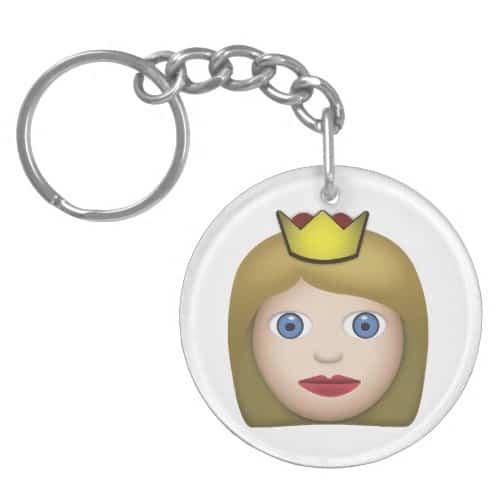 Princess Emoji Keychain