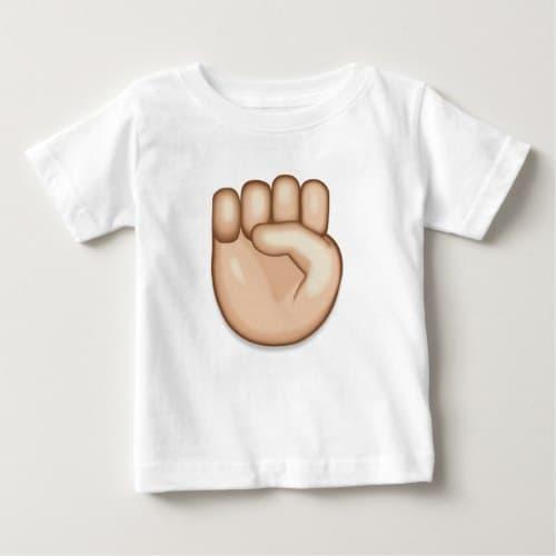 Raised Fist Emoji Baby T-Shirt