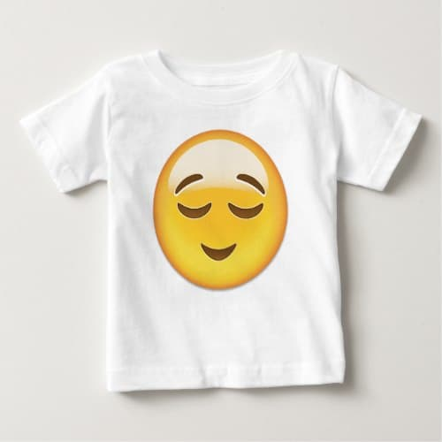 Relieved Face Emoji Baby T-Shirt