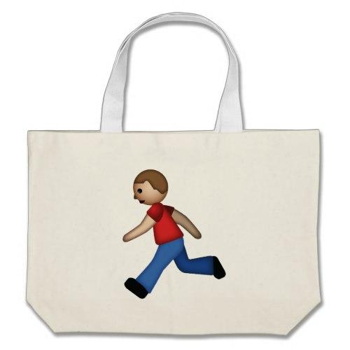 Runner Emoji Large Tote Bag