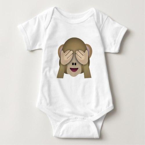 See No Evil Monkey Emoji Baby Bodysuit