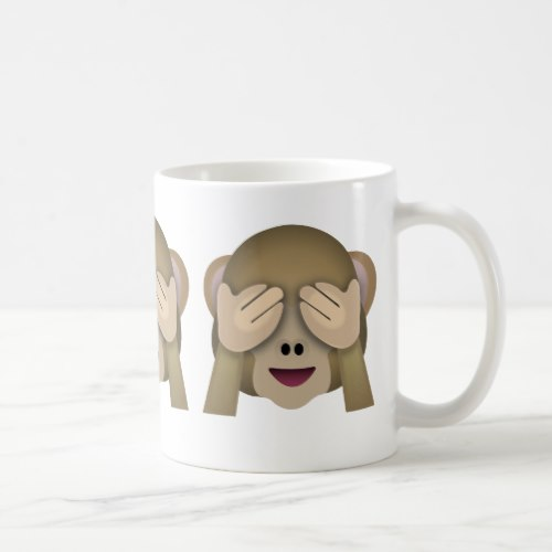 See No Evil Monkey Emoji Coffee Mug