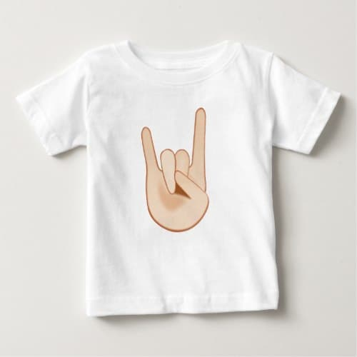 Sign of the Horns Emoji Baby T-Shirt