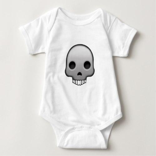 Skull Emoji Baby Bodysuit