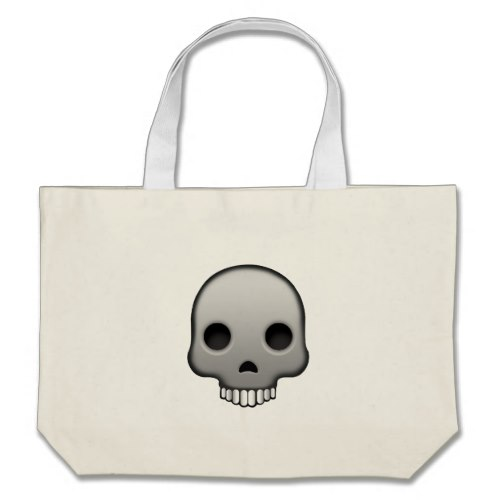 Skull Emoji Large Tote Bag