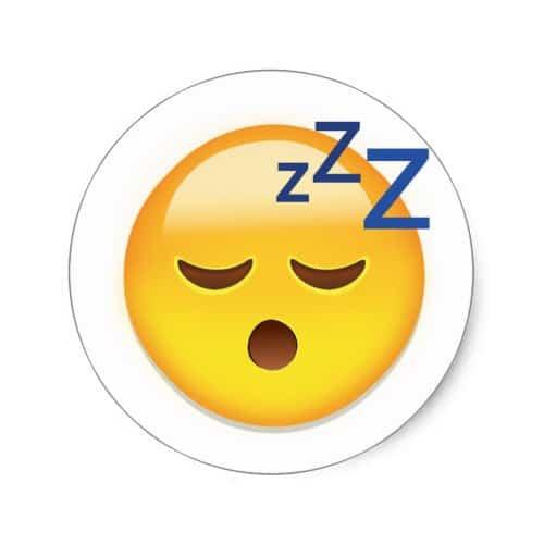 Sleeping Face Emoji Classic Round Sticker
