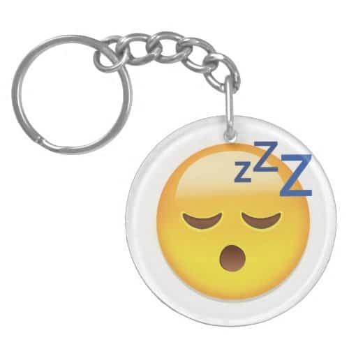 Sleeping Face Emoji Keychain