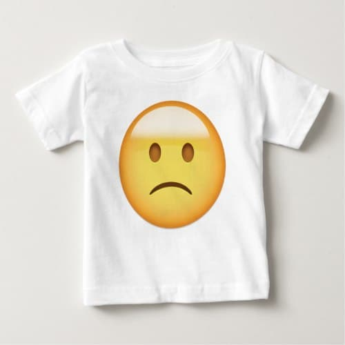 Slightly Frowning Face Emoji Baby T-Shirt