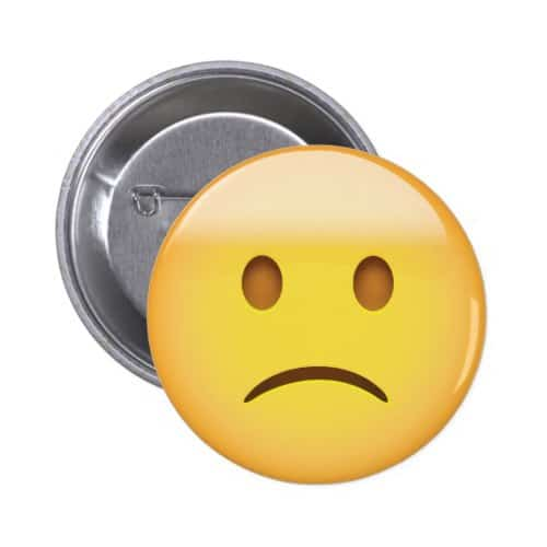 Slightly Frowning Face Emoji Button
