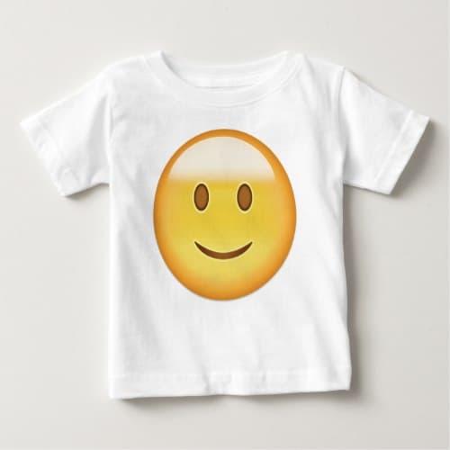 Slightly Smiling Face Emoji Baby T-Shirt