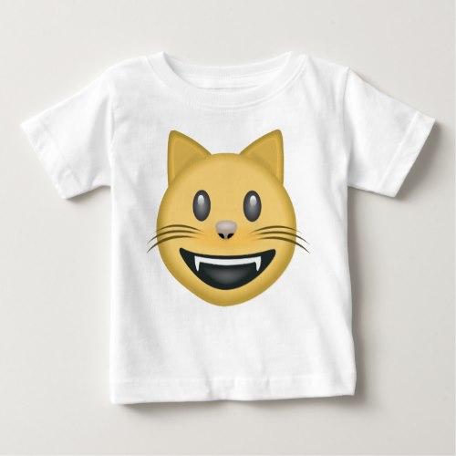 Smiling Cat Face With Open Mouth Emoji Baby T-Shirt