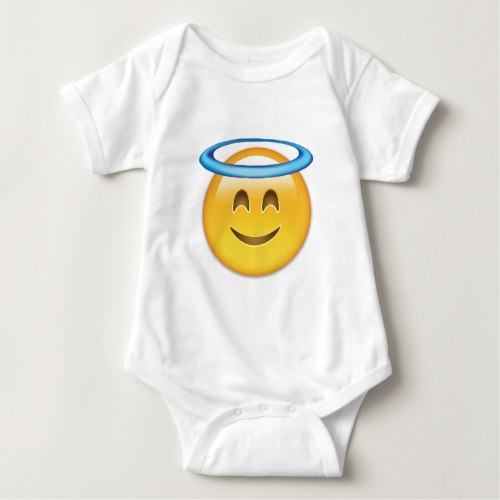 Smiling Face With Halo Emoji Baby Bodysuit