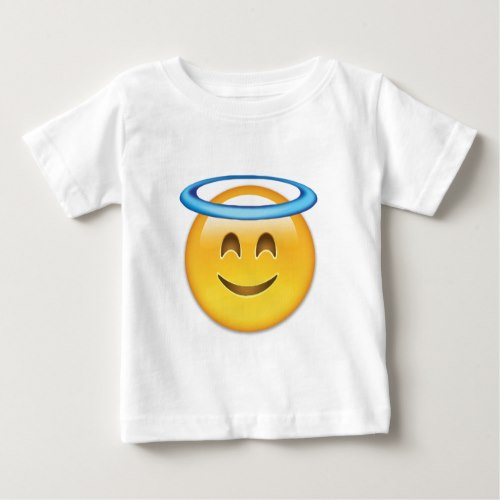 Smiling Face With Halo Emoji Baby T-Shirt