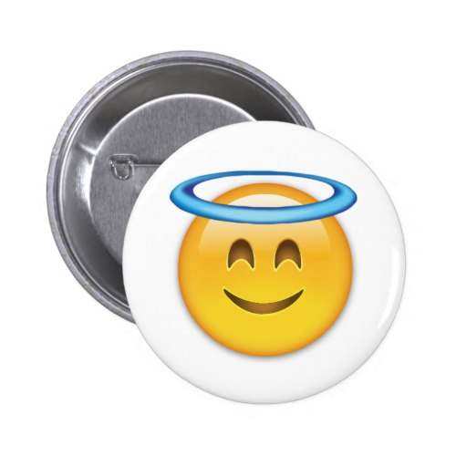 Smiling Face With Halo Emoji Button