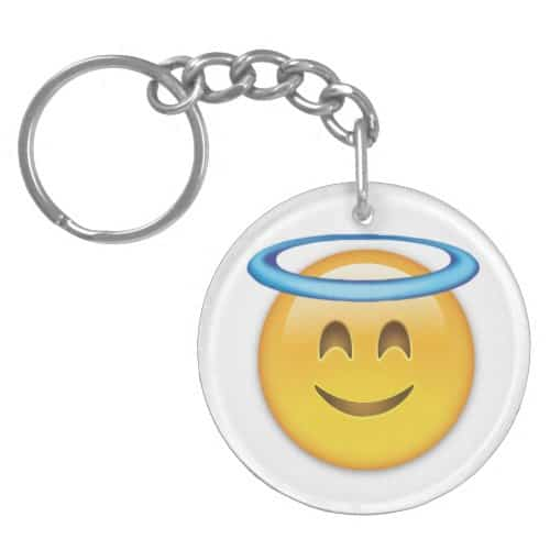 Smiling Face With Halo Emoji Keychain